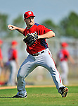 20 February 2011: Washington Nationals' pitcher Jason Marquis takes some fielding practice during Spring Training at the Carl Barger Baseball Complex in Viera, Florida. Mandatory Credit: Ed Wolfstein Photo