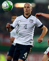VIENNA, Austria - November 19, 2013: Michael Bradley during a 0-1 loss to host Austria during the international friendly match between Austria and the USA at Ernst-Happel-Stadium.