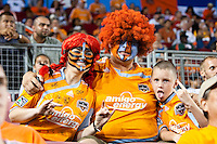 Houston Dynamo fans show their support.  Houston Dynamo defeated CD Chivas USA 1-0 at Robertson Stadium in Houston, TX on June 10, 2009.