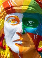 Mask and face of Lapu Lapu, Mactan Island, Cebu Philippines