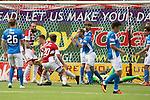 Hamilton Accies v St Johnstone…25.09.16.. New Douglas Park   SPFL<br />Greg Docherty scores for accies<br />Picture by Graeme Hart.<br />Copyright Perthshire Picture Agency<br />Tel: 01738 623350  Mobile: 07990 594431