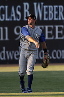 Scott Wingo #14 of the Rancho Cucamonga Quakes during a game against the Lancaster JetHawks at Clear Channel Stadium on August 22, 2012 in Lancaster, California. Rancho Cucamonga defeated Lancaster 8-7. (Larry Goren/Four Seam Images)