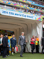 England manager Roy Hodgson emerges from the tunnel
