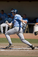 Seth Williams (27) in the North Carolina Tar Heels follows through on his swing versus the St. John's Red Storm at the 2008 Coca-Cola Classic at the Winthrop Ballpark in Rock Hill, SC, Sunday, March 2, 2008.