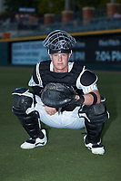 Charlotte Knights catcher Zack Collins (8) poses for a photo prior to the game against the Durham Bulls at BB&T BallPark on July 31, 2019 in Charlotte, North Carolina. The Knights defeated the Bulls 9-6. (Brian Westerholt/Four Seam Images)