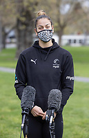 Maia Wilson of the Silver Ferns during a press conference ahead of their Test matches against England, at Rydges Hotel in Christchurch, New Zealand on Friday, 17 September 2021. Photo: Martin Hunter / lintottphoto.co.nz