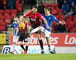 St Johnstone v Kilmarnock…24.11.18…   McDiarmid Park    SPFL<br />Gary Dicker and Murray Davidson battle<br />Picture by Graeme Hart. <br />Copyright Perthshire Picture Agency<br />Tel: 01738 623350  Mobile: 07990 594431