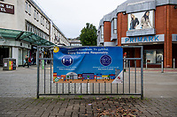 Pictured: A general view St Mary's Square, Swansea city centre, Wales, UK. Monday 28 September 2020<br /> Re: Local lockdown will be in force from 6pm on the 27th September 2020 due to the Covid-19 Coronavirus pandemic, in Swansea, Wales, UK.