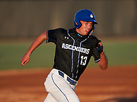 IMG Academy Ascenders Stone Russell (13) running the bases during a game against the Jesuit Tigers on April 21, 2021 at IMG Academy in Bradenton, Florida.  (Mike Janes/Four Seam Images)