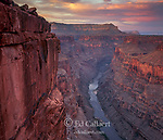 Dusk, Toroweap, Colorado River, North Rim, Grand Canyon National Park, Arizona