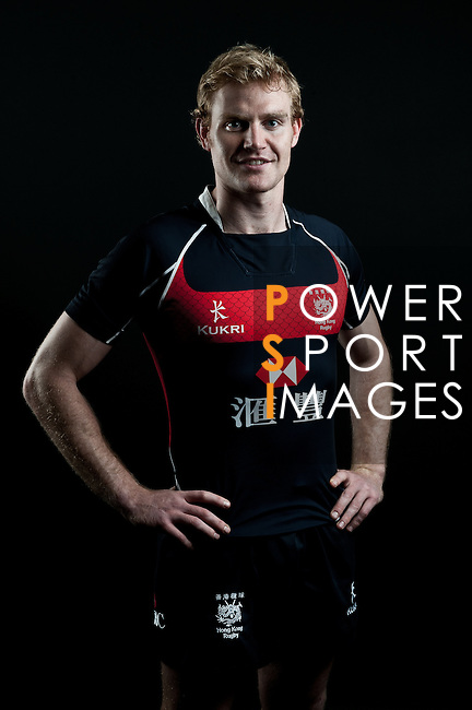 Jamie Hood poses during the Hong Kong 7's Squads Portraits on 5 March 2012 at the King's Park Sport Ground in Hong Kong. Photo by Andy Jones / The Power of Sport Images for HKRFU