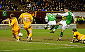 HIBERNIAN'S MATTHEW DOHERTY SCORES HIBS SECOND