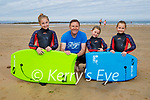 The Lyons family from Moyvanne after enjoying a bit of surfing on Ballybunion beach on Sunday, l to r: Mara, Noel, Sive and Ruby Lyons.