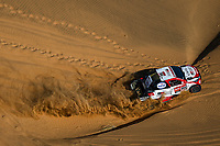 4th January 2021; Dakar Rally stage 2;  #304 De Villiers Giniel (zaf), Haro Bravo Alex (esp), Toyota, Toyota Gazoo Racing, Auto, action during the 2nd stage of the Dakar 2021 between Bisha and Wadi Al Dawasir, in Saudi Arabia on January 4, 2021