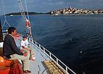 .Korcula island. Korcula harbour.Cruise in Croatia. Island of Dalmatia