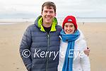 MacDara McGearalth and Anna Powell enjoying a stroll in Banna beach on Sunday.