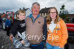 Attending the Ardfert Vintage Tractor run fundraiser for Kerry Cork Cancer Support Group in Ardfert on Sunday, l to r: Shay and Seamus Quirke and Michelle Rowan.