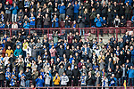 St Johnstone v Hearts…29.09.18…   Tynecastle     SPFL<br />The travelling St Johnstone fans<br />Picture by Graeme Hart. <br />Copyright Perthshire Picture Agency<br />Tel: 01738 623350  Mobile: 07990 594431