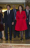 SMG_Jose Maria Aznar_Ana Botella_SP1_El Compromiso del Poder_110713_03.JPG<br /> <br /> MADRID, SPAIN - NOVEMBER 07: Jose Maria Aznar and Ana Botella attend the presentation of the new book of Spanish Ex Prime Minister Jose Maria Aznar 'El compromiso del poder' on November 7, 2013 in Madrid, Spain.  (Photo By Storms Media Group)<br /> <br /> People:  Jose Maria Aznar_Ana Botella<br /> <br /> Transmission Ref:  SP1<br /> <br /> Must call if interested<br /> Michael Storms<br /> Storms Media Group Inc.<br /> 305-632-3400 - Cell<br /> 305-513-5783 - Fax<br /> MikeStorm@aol.com<br /> WWW.StormsMediaGroup.com