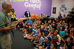 Gabe Kerschner, with Conservation Ambassadors, gives a presentation at the Boys & Girls Club of Western Nevada in Carson City, Nev., on Tuesday, June 12, 2018 as part of the Carson City Library's Summer Learning Challenge. <br /> Photo by Cathleen Allison/Nevada Momentum