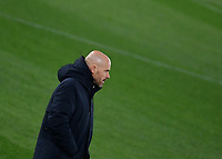 Football: Europa League - quarter final 2nd leg AS Roma vs Ajax, Olympic Stadium. Rome, Italy, March 15, 2021.<br /> Ajax's coach Erik ten Hag looks on during the Europa League football match between Roma at Rome's Olympic stadium, Rome, on April 15, 2021.  <br /> UPDATE IMAGES PRESS/Isabella Bonotto