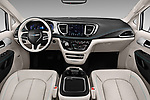 Stock photo of straight dashboard view of a 2018 Chrysler Pacifica Hybrid Limited 5 Door Mini Van