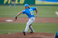 Myrtle Beach Pelicans relief pitcher Jake Reindl (27) in action against the Lynchburg Hillcats at Bank of the James Stadium on May 22, 2021 in Lynchburg, Virginia. (Brian Westerholt/Four Seam Images)