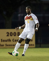 The Winthrop University Eagles played the College of Charleston Cougars at Eagles Field in Rock Hill, SC.  College of Charleston broke the 1-1 tie with a goal in the 88th minute to win 2-1.  Josh Choice (16)