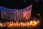 Greenham Common Womens Peace Camp Berkshire UK 1983.