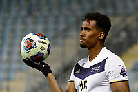 Chester, PA - Friday December 08, 2017: Ezana Kahsay The Stanford Cardinal defeated the Akron Zips 2-0 during an NCAA Men's College Cup semifinal match at Talen Energy Stadium.