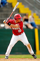 21 April 2007: University of Hartford Hawks' Bill Perry, a Junior from East Falmouth, MA, in action during a double-header against the University of Vermont Catamounts at Historic Centennial Field, in Burlington, Vermont...Mandatory Photo Credit: Ed Wolfstein Photo