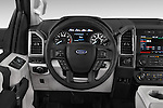Car pictures of steering wheel view of a 2015 Ford F-150 XLT SuperCrew 145-in Door Pickup Steering Wheel