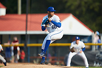 Burlington Royals starting pitcher Carlos Hernandez (60) in action against the Danville Braves at Burlington Athletic Stadium on July 13, 2019 in Burlington, North Carolina. The Royals defeated the Braves 5-2. (Brian Westerholt/Four Seam Images)