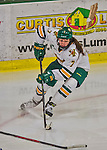 13 February 2015: University of Vermont Catamount Defender Rachael Ade, a Sophomore from Davenport, FL, in second period action against the University of New Hampshire Wildcats at Gutterson Fieldhouse in Burlington, Vermont. The Lady Catamounts fell to the visiting Wildcats 4-2 in the first game of their weekend Hockey East series. Mandatory Credit: Ed Wolfstein Photo *** RAW (NEF) Image File Available ***