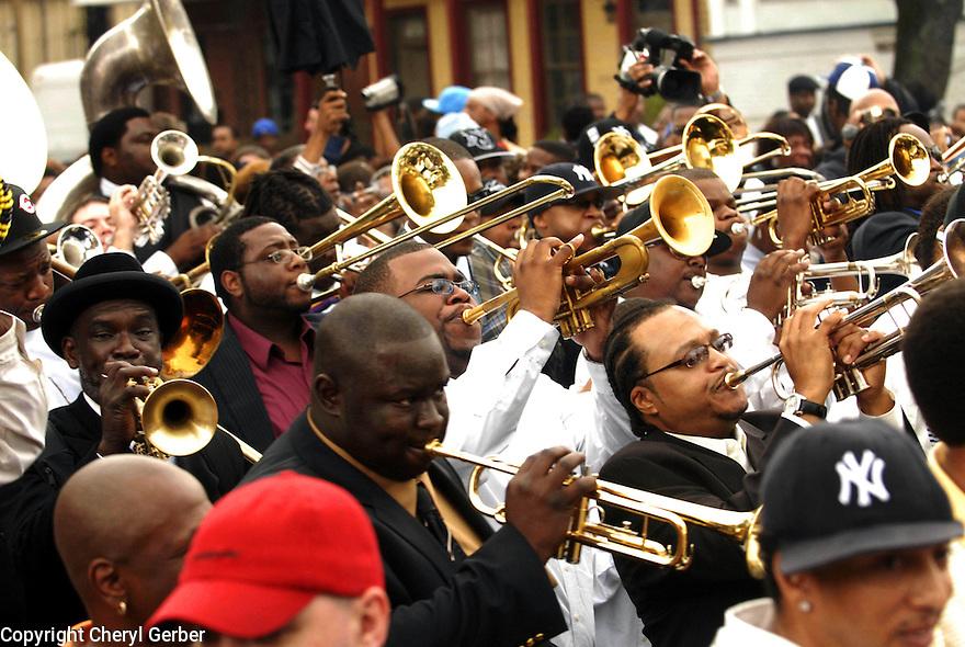 Jazz Funeral for murdered drummer Dinerral Shavers, Central City, 2007