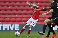 Marcus Maddison of Charlton Athletic shot goes wide during Charlton Athletic vs Plymouth Argyle, Emirates FA Cup Football at The Valley on 7th November 2020
