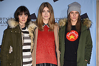 Sam Rollinson, Eve Delf and Charlotte Wiggins<br /> at the launch of the Skate at Somerset House ice rink, London.<br /> <br /> ©Ash Knotek  D3199  16/11/2016