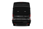 Straight rear view of a 2019 Ford Transit Wagon 350 XLT Wagon High Roof Pass Slide 148WB 5 Door Passenger Van stock images