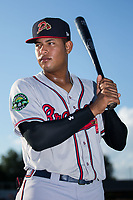 Kevin Maitan (26) of the Danville Braves poses for a photo prior to the game against the Burlington Royals at Burlington Athletic Stadium on August 12, 2017 in Burlington, North Carolina.  The Braves defeated the Royals 5-3.  (Brian Westerholt/Four Seam Images)