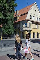 Restaurant auf der Tiltu gatve in Klaipeda, Litauen, Europa