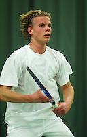 10-3-06, Netherlands, tennis, Rotterdam, National indoor junior tennis championchips, Rutger Meijer