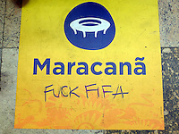 Some Brazilians show their anger towards FIFA and the World Cup