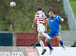 Hamilton Accies v St Johnstone..23.10.10  .Sam Parkin heads the ball into the net to give saints a 1-0 lead.Picture by Graeme Hart..Copyright Perthshire Picture Agency.Tel: 01738 623350  Mobile: 07990 594431