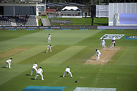 NZ's Matt Henry bowls to Pakistan's Zafar Gohar during day four of the second International Test Cricket match between the New Zealand Black Caps and Pakistan at Hagley Oval in Christchurch, New Zealand on Wednesday, 6 January 2021. Photo: Dave Lintott / lintottphoto.co.nz
