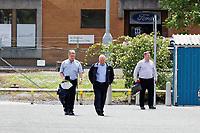 Pictured: Factory workers leave the Ford engine plant in Bridgend, Wales, UK. Thursday 06 June 2019<br /> Re: An announcement on the proposed closure of Ford's Bridgend plant will be made today (Thursday).<br /> Ford Europe and bosses from the United States will meet union leaders at its Essex headquarters.<br /> The plant employs 1,700 workers from across south Wales.