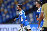 Amin Younes of SSC Napoli celebrates after scoring the goal of 3-1 during the Serie A football match between SSC Napoli and SPAL at stadio San Paolo in Naples ( Italy ), June 28th, 2020. Play resumes behind closed doors following the outbreak of the coronavirus disease. <br /> Photo Carmelo Imbesi / Insidefoto