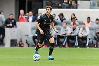 LOS ANGELES, CA - MARCH 01: Francisco Ginella #8 of LAFC advances the ball in a match against Inter Miami CF during a game between Inter Miami CF and Los Angeles FC at Banc of California Stadium on March 01, 2020 in Los Angeles, California.