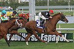 March 28, 2015:  #3 Imagining with jockey Irad Ortiz Jr on board wins the Pan American Stakes G3 on Florida Derby Day at Gulfstream Park  in Hallandale Beach, Florida.    Liz Lamont/ESW/CSM