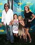 Billy Ray Cyrus, Noah Cyrus, Emily Grace Reeves and Brandi Cyrus at the Teen Choice 2009 Awards at Gibson Amphitheatre in Universal City, August 9th 2009..Photo by Chris Walter/Photofeatures