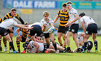 Friday 17th March 2017 | ULSTER SCHOOLS CUP FINAL<br /> <br /> Johnny Jordan gets the ball away for MCB during the Ulster Schools Cup Final between RBAI and MCB at Kingspan Stadium, Ravenhill Park, Belfast, Northern Ireland.<br /> <br /> Photograph by John Dickson | www.dicksondigital.com